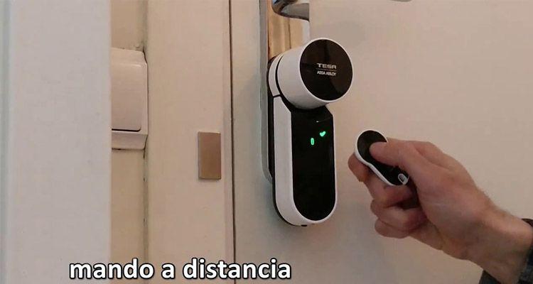 cerrojo electrico con mando a distancia